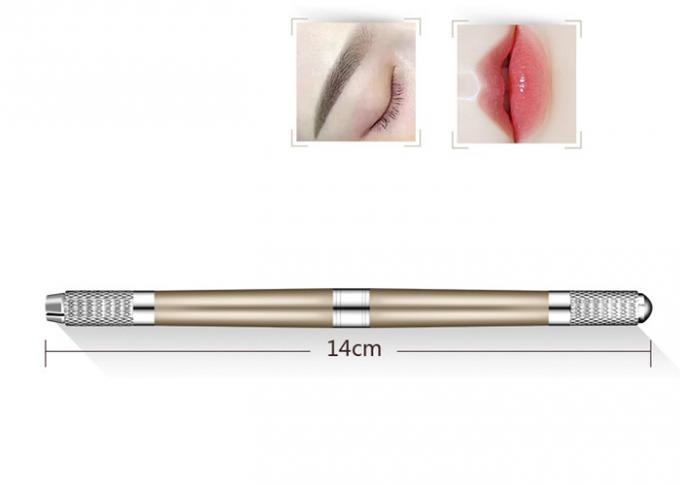 Three Types Manual Eyebrow Tattoo Pen , Stainless Steel Manual Tattoo Pen