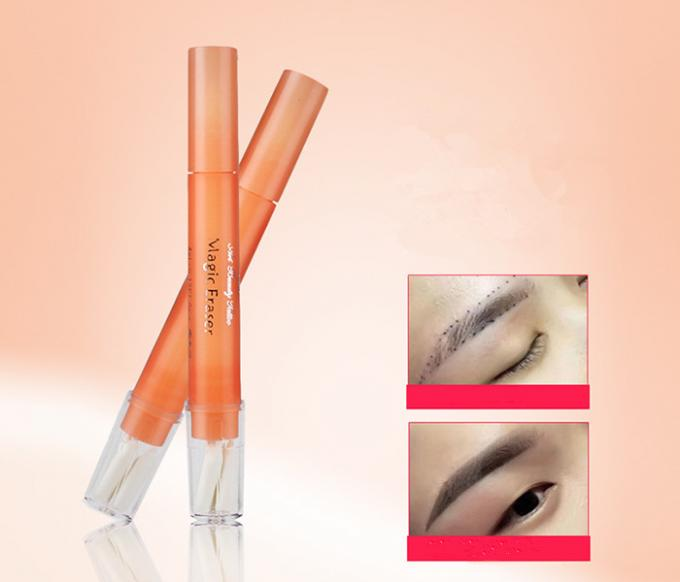 Mark Elimination Manual Eyebrow Tattoo Pen 12cm Length With Orange Color