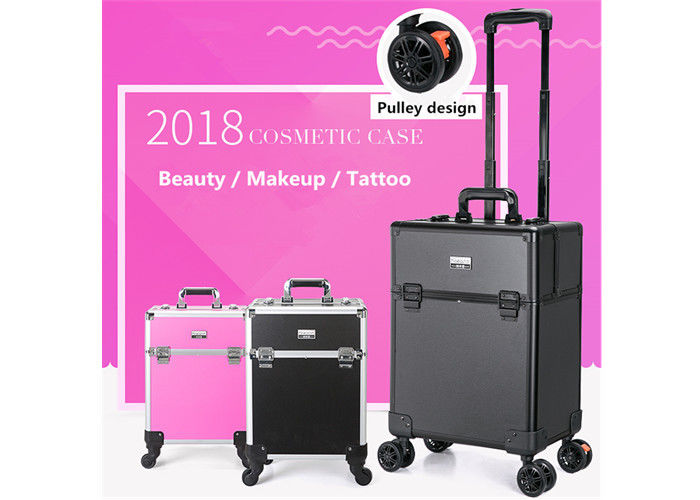 Aluminum Alloy Tattoo Accessories Case Tattoo Travel Box With Pink / Black / Silver