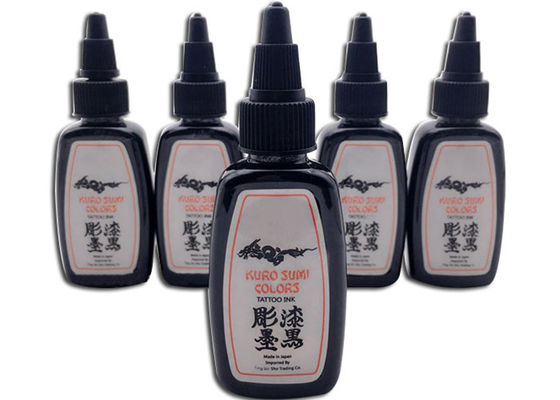 China Popular Permanent Tattoo Ink 30ml / 1oz KURO SUMI Good Color Tattoo Ink factory