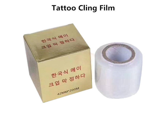 China Transparent Tattoo Accessories Disposable Tattoo Cling Film For Eyebrow / Body Tattoo factory
